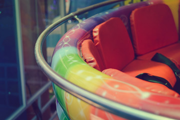 Music box merry go round carousel closeup colorful background