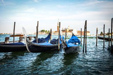 beautiful gondola in the venetian water