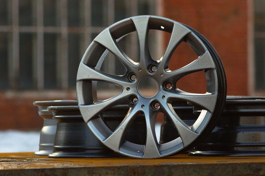 Close up of rims car alloy wheel