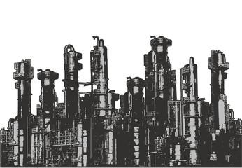 Chemical plants Illustration