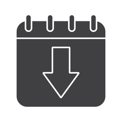 Download calendar glyph icon