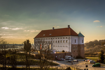 Zamek w mieście Sandomierz, Polska
