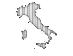 Karte von Italien auf Textur