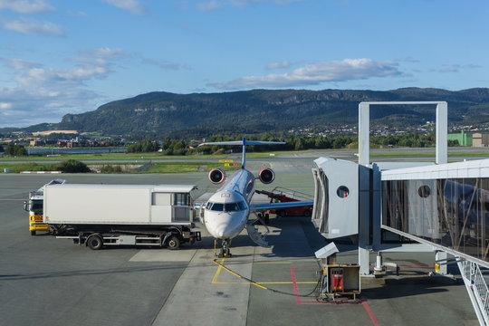 Flughafen Norwegen Trondheim