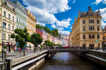 Karlovy Vary at summer daytime. Czech Republic
