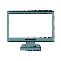 computer monitor cursor icon image vector illustration design