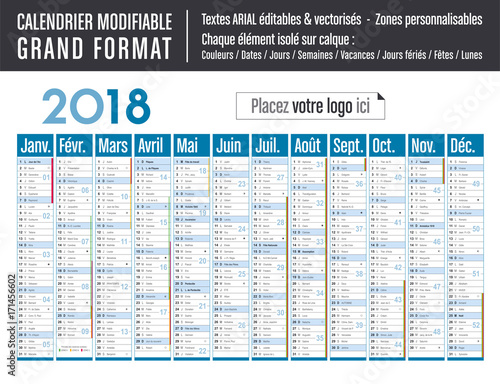 calendrier 2018 grand format