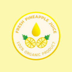 fresh pineapple juice round logo