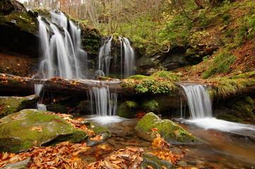 Printed roller blinds Waterfalls autumn waterfall