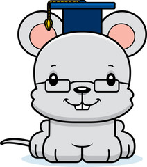Cartoon Smiling Teacher Mouse