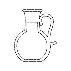 fruit juice jug glass icon image vector illustration design