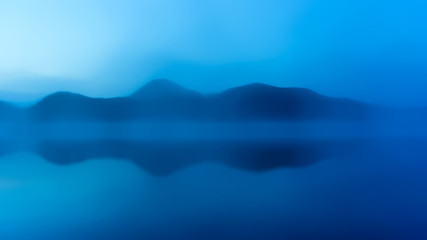 Abstract blue reflection background