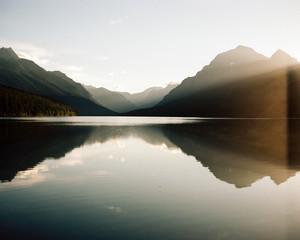 Sunrise at Bowman Lake, Glacier National Park