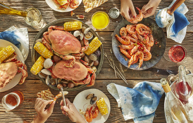 Seafood Boil with Crab, Shrimp and Clams
