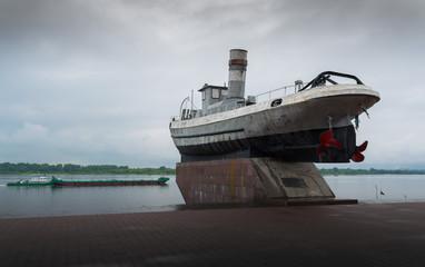 Gunboat monument.Russia,Nizhny Novgorod.