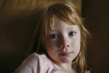 Portrait of a Little Girl first thing in the morning