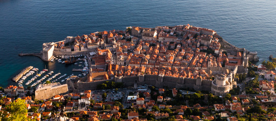 The UNESCO world heritage site of the Old Town of Dubrovnik, Croatia.
