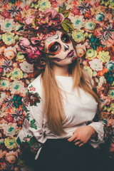 spooky sugar skull girl