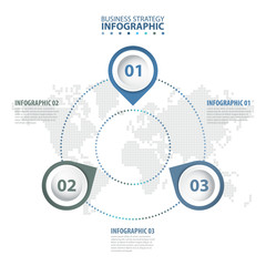 3 options Business Infographics design template illustration