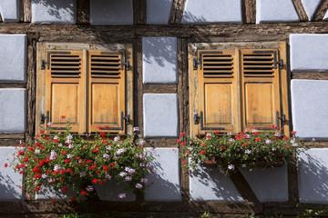 Porte e finestre, Alsazia, Francia