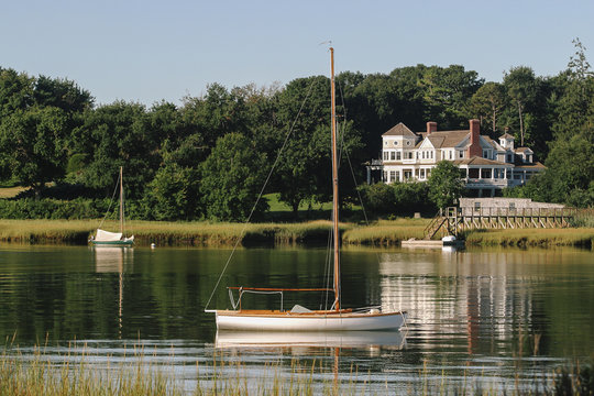 Wooden Boat in Harbor