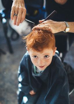 Getting a haircut at home
