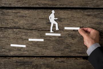 Creative concept of a successful businessman