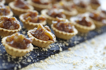 Freshly prepared tartlets
