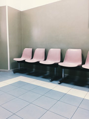 Empty waiting room in an public hospital