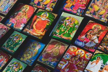 Souvenir pictures of Saints and Deities  for sale.