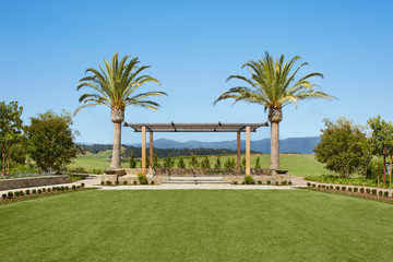 Outdoor event space in Napa Valley, California