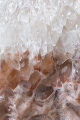 Calcite mineral, closeup