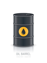 Oil barrel vector illustration