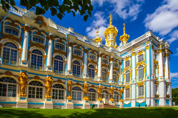 City Park of the city of Pushkin. St. Petersburg.