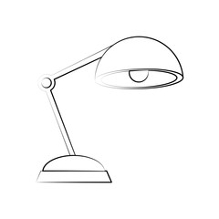 desk lamp icon image vector illustration design  black line