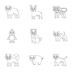 Zoo, toys, hunting and other web icon in outline style.Forest, nature, farm, icons in set collection.