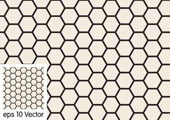 Vector hexagon pattern