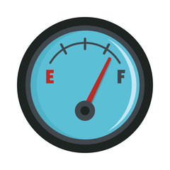 Fuel meter flat icon vector illustration for design and web isolated