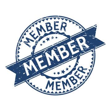 Member stamp. sign. seal. Member stamp grunge