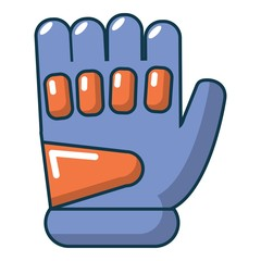 Paintball glove icon, cartoon style