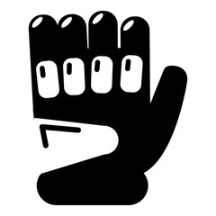 Paintball sport glove icon, simple style