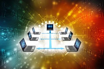 Computer Network, 3d rendering