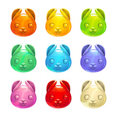 Cute jelly bunny faces.