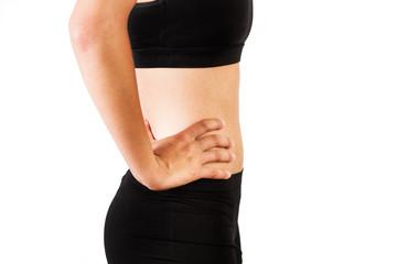 Cintura de mujer con vientre plano