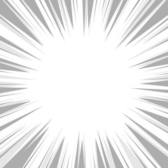 Comic Book Flash Explosion Radial Background. Vector
