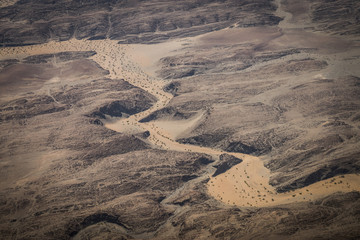 The dry river bed of the Numas River, near Mt Brandenburg, Namibia.
