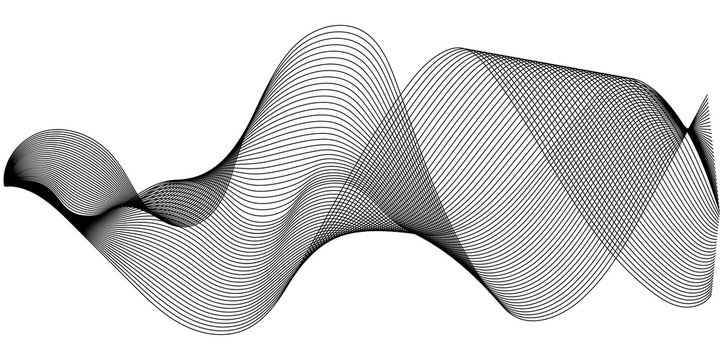 Music sound waves set, Sound waves oscillating glow, vector Music digital equalizer halftone sound wave illustration