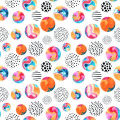 Printed roller blinds Graphic Prints Watercolor circles simple seamless pattern