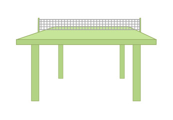Table Tennis Table Vector Design