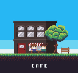 Pixel Art Cafe